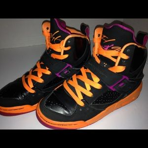 Air Jordan  black orange and hot pink size 3 1/2